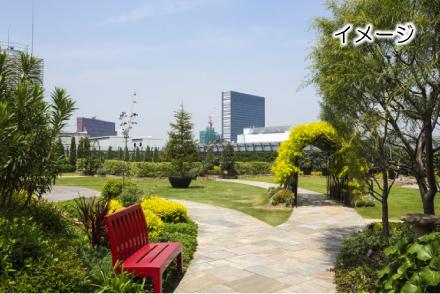 憩いの場となる緑化空間